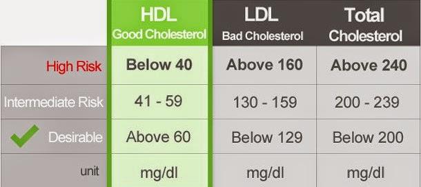Average Cholesterol Level >> Normal Cholesterol Levels